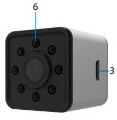 SQ13 Mini WiFi Car DVR Action Camera  Instructions  English